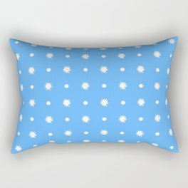 stars 102- blue Rectangular Pillow