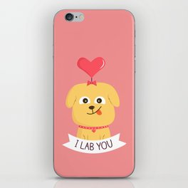 I Lab You iPhone Skin
