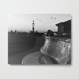 Park Güell at Dawn Metal Print