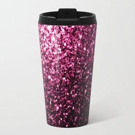 Beautiful Dark Pink glitter sparkles Travel Mug