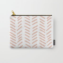Pink Chevrons Carry-All Pouch