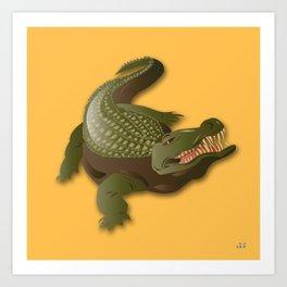 Crocodile - 'A Fantastic Journey' Art Print
