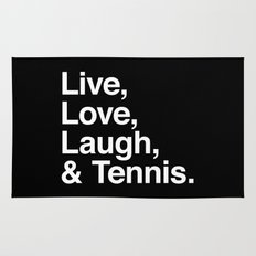 Live Love Laugh and Tennis Rug