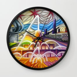 Chicago Montage 4 Wall Clock
