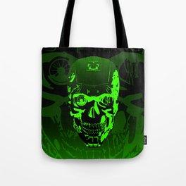 Gamer Skull CARTOON GREEN / 3D render of cyborg head Tote Bag