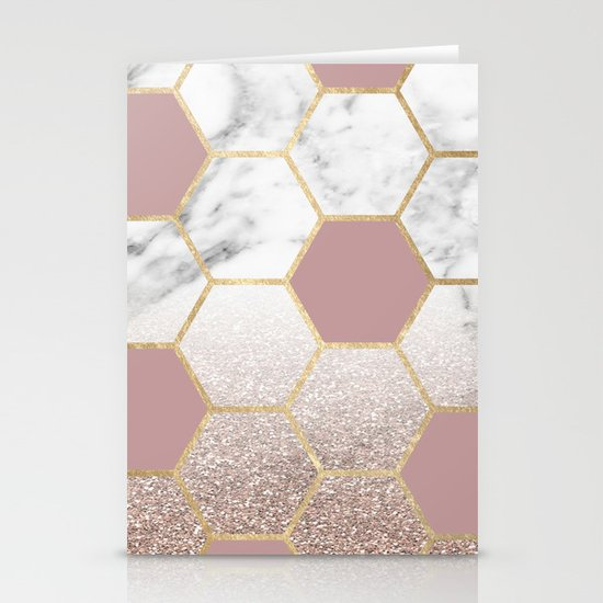 Cherished aspirations rose gold marble by marbleco