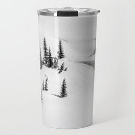 AERIAL VIEW PHOTOGRAPHY OF SNOW Travel Mug
