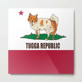 Tugga Republic Metal Print