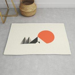Camp // Geometric Minimalist Illustration Rug