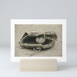 First Love 3 in Sepia Mini Art Print
