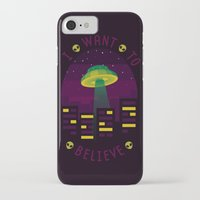 i want to believe iPhone & iPod Cases featuring I WANT TO BELIEVE by badOdds