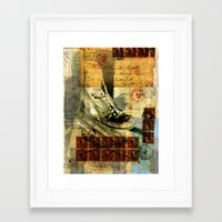 shoe Framed Art Prints featuring Shoe by Echo Designlab