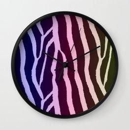 Pastel Zebra Stripe Pattern Wall Clock