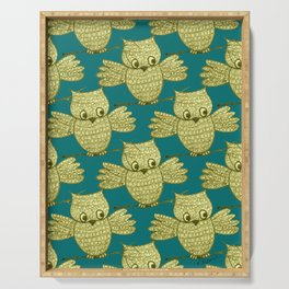 Little Yellow Owl Pattern Serving Tray