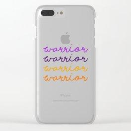 Life Elektrik:  Warrior Clear iPhone Case