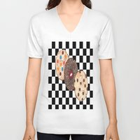 cookies V-neck T-shirts featuring Eat Cookies by Sartoris ART