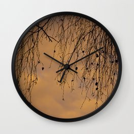 sunny branches and clouds Wall Clock