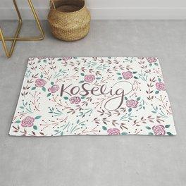 Koselig - Rosy Floral Rug
