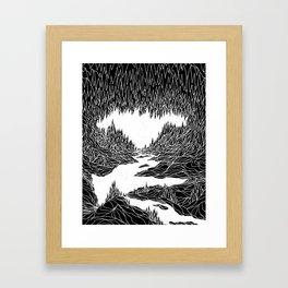 Cave Trip Framed Art Print
