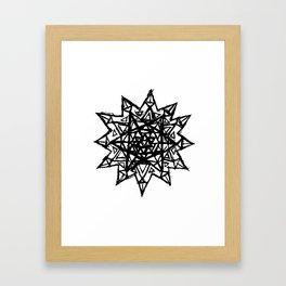 Merkaba of Light Framed Art Print