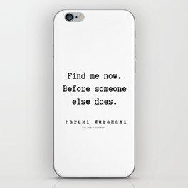 74  |  Haruki Murakami Quotes | 190811 iPhone Skin