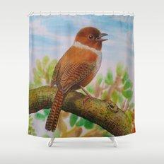 A Brown Bird Shower Curtain