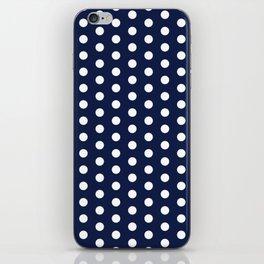 Navy Blue Polka Dot iPhone Skin