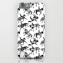 Dressage Horse Silhouettes iPhone Case