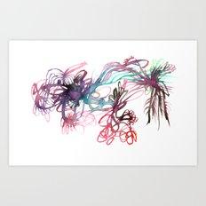 Galaxies Art Print
