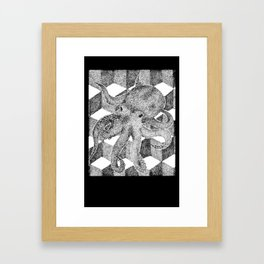 Floating Octopus design as mini camera film Framed Art Print