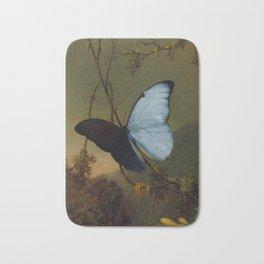 Blue Morpho Butterfly 1865 By Martin Johnson Heade | Reproduction Bath Mat