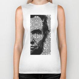 Abraham Lincoln - An American President Stone Rock'd Art Print Biker Tank