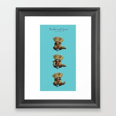 Rocket and Groot Framed Art Print
