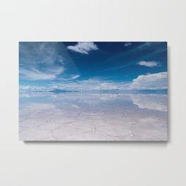 Salt Flats of Salar de Uyuni, Bolivia #1 color photography / photographs Metal Print