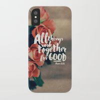 pocketfuel iPhone & iPod Cases featuring All Things Work Together For Good (Romans 8:28) by Pocket Fuel