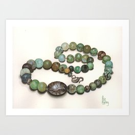 Jade Beads Art Print