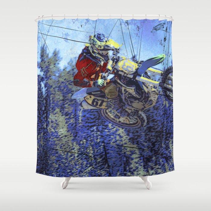 Motocross Dirt Bike Championship Race Shower Curtain