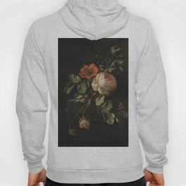 Botanical Rose And Snail Hoody