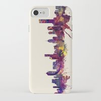 melbourne iPhone & iPod Cases featuring Melbourne Skyline by artPause