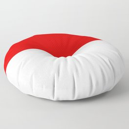 flag of indonesia Floor Pillow