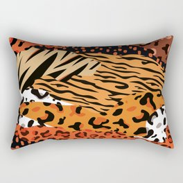 Animal Kingdom African Hide pattern Rectangular Pillow