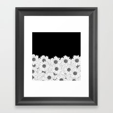 Daisy Boarder Framed Art Print