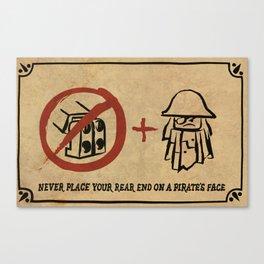 Metal Beard's Rule 1 Canvas Print