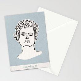 Manneken Pis sculpture Stationery Cards