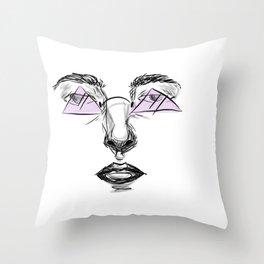Purple Glasses Throw Pillow