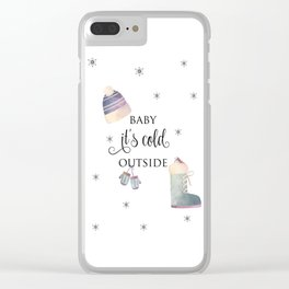 Baby, It's Cold Outside Clear iPhone Case