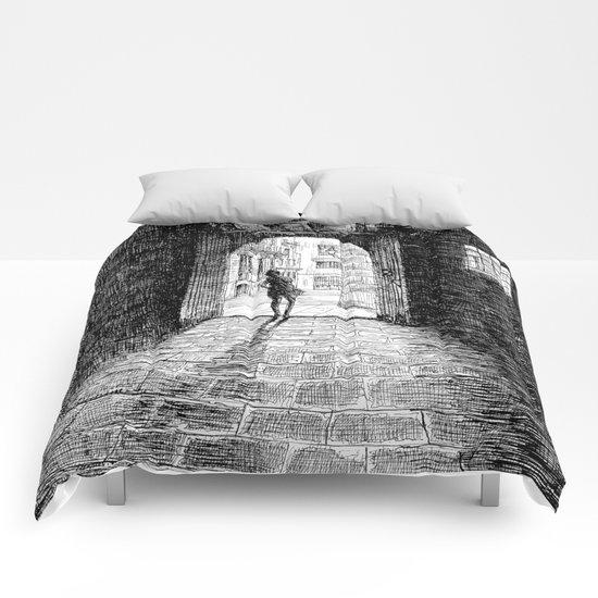 Light - Black ink Comforters