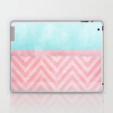 pink and turquoise chevron Laptop & iPad Skin