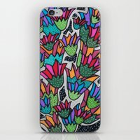 leah flores iPhone & iPod Skins featuring Flores by Carolina Delleteze