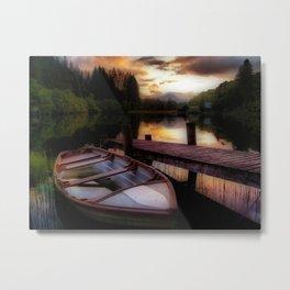 Summer Sunset Over Loch Ard Metal Print